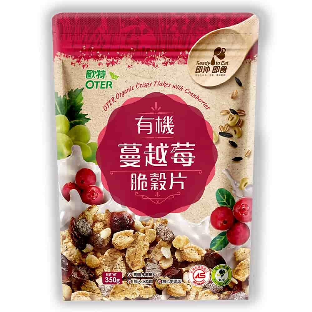 歐特 有機蔓越莓脆穀片(350g)
