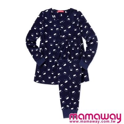 孕婦裝-哺乳衣-坐月子-睡衣-超細刷毛孕哺居家服組-共二色-Mamaway