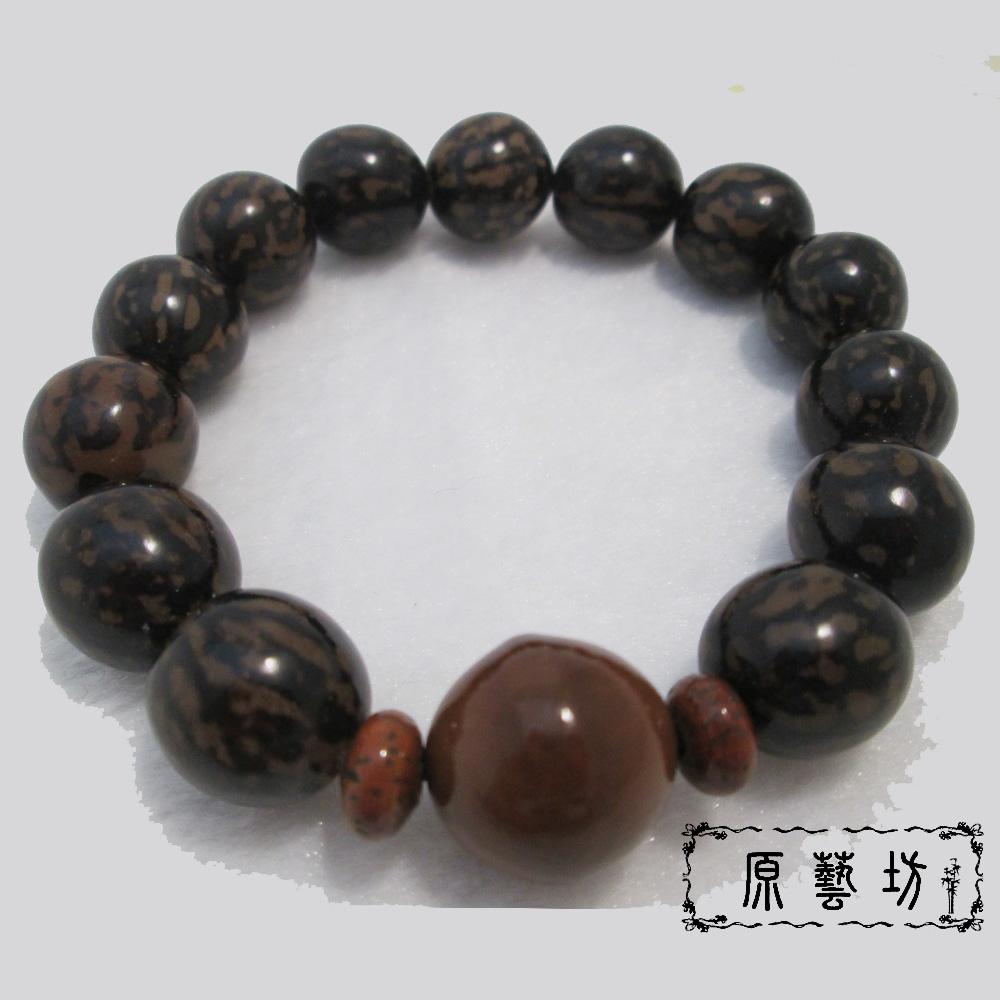 原藝坊 天然虎斑菩提子手珠(圓珠直徑12-14mm)