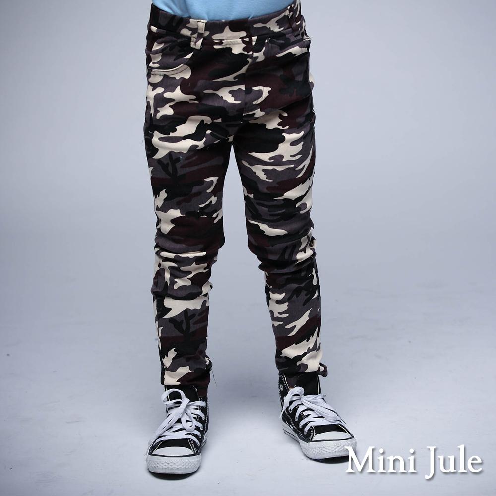 Mini Jule 童裝-長褲 迷彩雙口袋鬆緊長褲(灰)