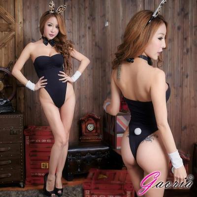 Gaoria 烈火浪女 可愛兔子裝 角色扮演 制服 情趣睡衣角色服 黑
