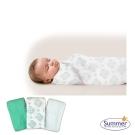 美國 Summer Infant 輕量細棉紗布寶寶毯3入組 - 翡翠綠
