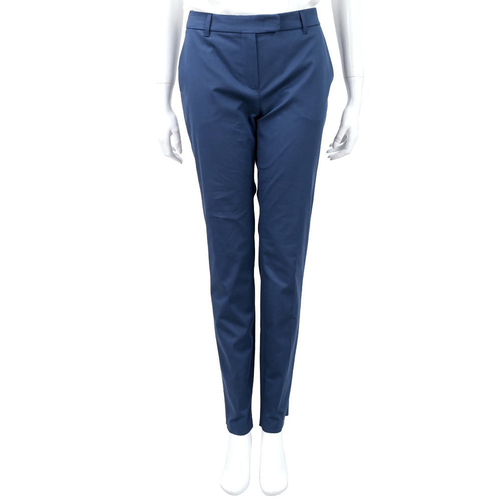 Max Mara 藏藍色棉質煙管褲