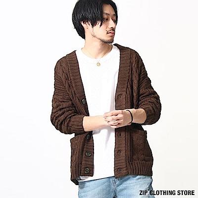 針織開襟外套(6色) ZIP日本男裝
