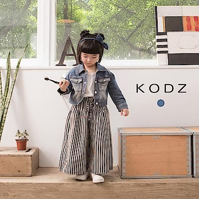 東京著衣KODZ酷琪琪聯名歐美刷白設計牛仔短外套-童-S.M.L(共一色)