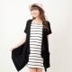 Keep Chic孕婦裝-黑色兩件式條紋修身洋裝 product thumbnail 1