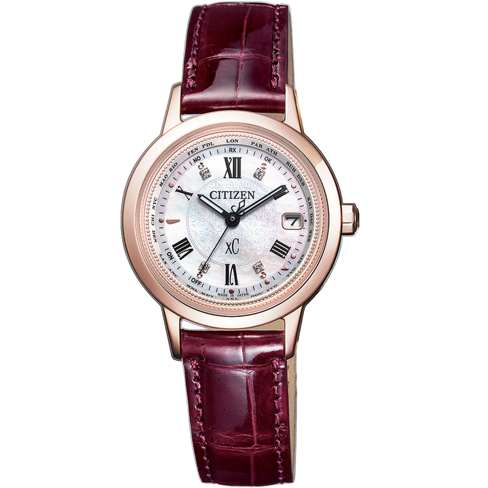 CITIZEN xC 戀之梵蒂岡電波腕錶-EC1144-00W-28mm