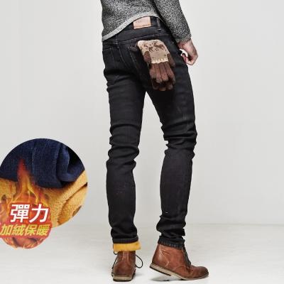 DITION 冬款SKINNY加絨加厚牛仔褲 修身 保暖絨毛