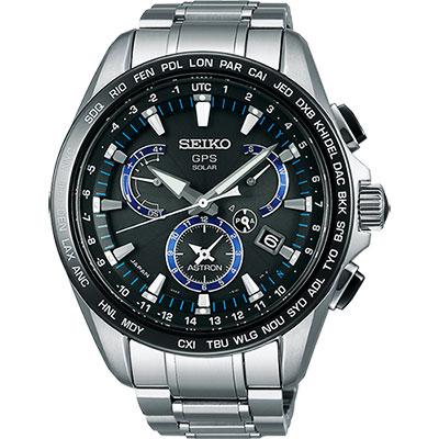 SEIKO精工 ASTRON GPS衛星定位鈦金屬腕錶(SSE101J1)-黑/45mm