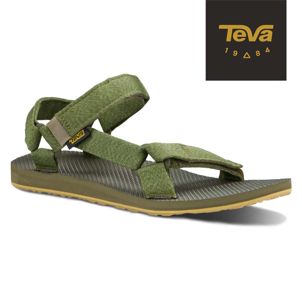 TEVA 美國-男 Original Universal 緹花涼鞋 (橄欖綠)