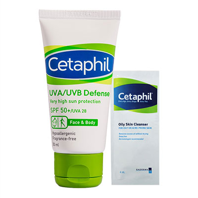 Cetaphil舒特膚 極緻全護低敏防曬霜SPF50 50ml 贈體驗包1入(隨機)