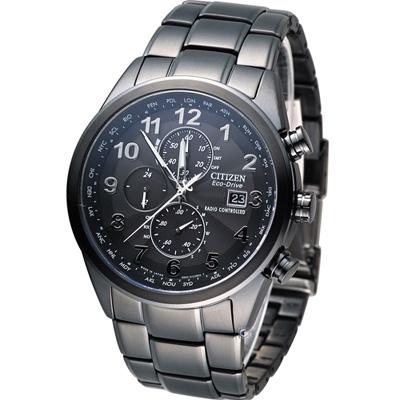 CITIZEN GENT'S 時刻主宰電波腕錶(AT8105-53E)-IP黑/43mm
