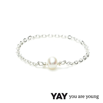 YAY You Are Young 法國品牌 Stella 珍珠鍊戒 925純銀