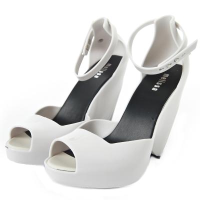 MELISSA-結構美學高跟鞋-白-黑