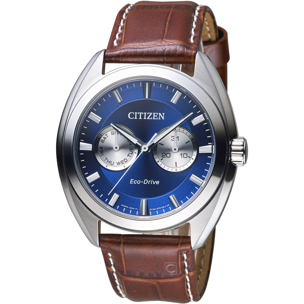 CITIZEN 星辰 S系列都會時尚光動能腕錶(BU4011-11)-藍x銀/43.5mm