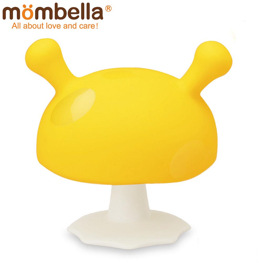 英國 Mombella Q比小蘑菇固齒器 黃色