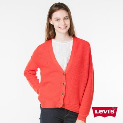 Levis 女裝 針織外套 長版
