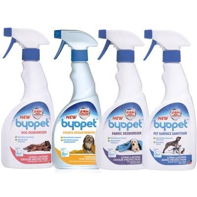 Byopet寵物專用乾洗噴劑、去漬除臭殺菌噴劑、布製品除臭消毒噴劑、消毒清潔噴劑