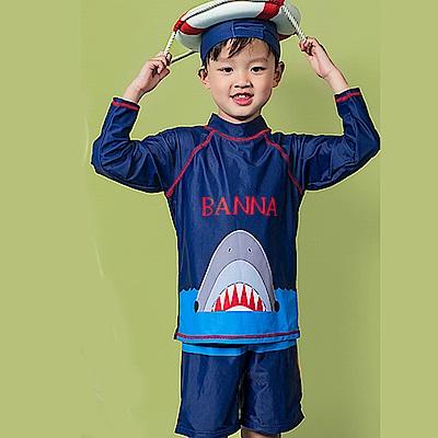 Biki比基尼妮泳衣   開口鯊長袖泳衣兒童泳衣泳裝