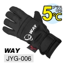 WAY JYG-006 可觸控手機平板、保暖、防風、防滑、防水、耐寒手套(凜冽黑)