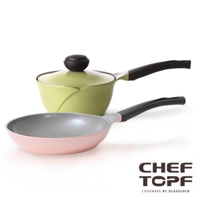 Chef Topf薔薇系列不沾鍋-平底鍋26cm+單柄湯鍋18cm