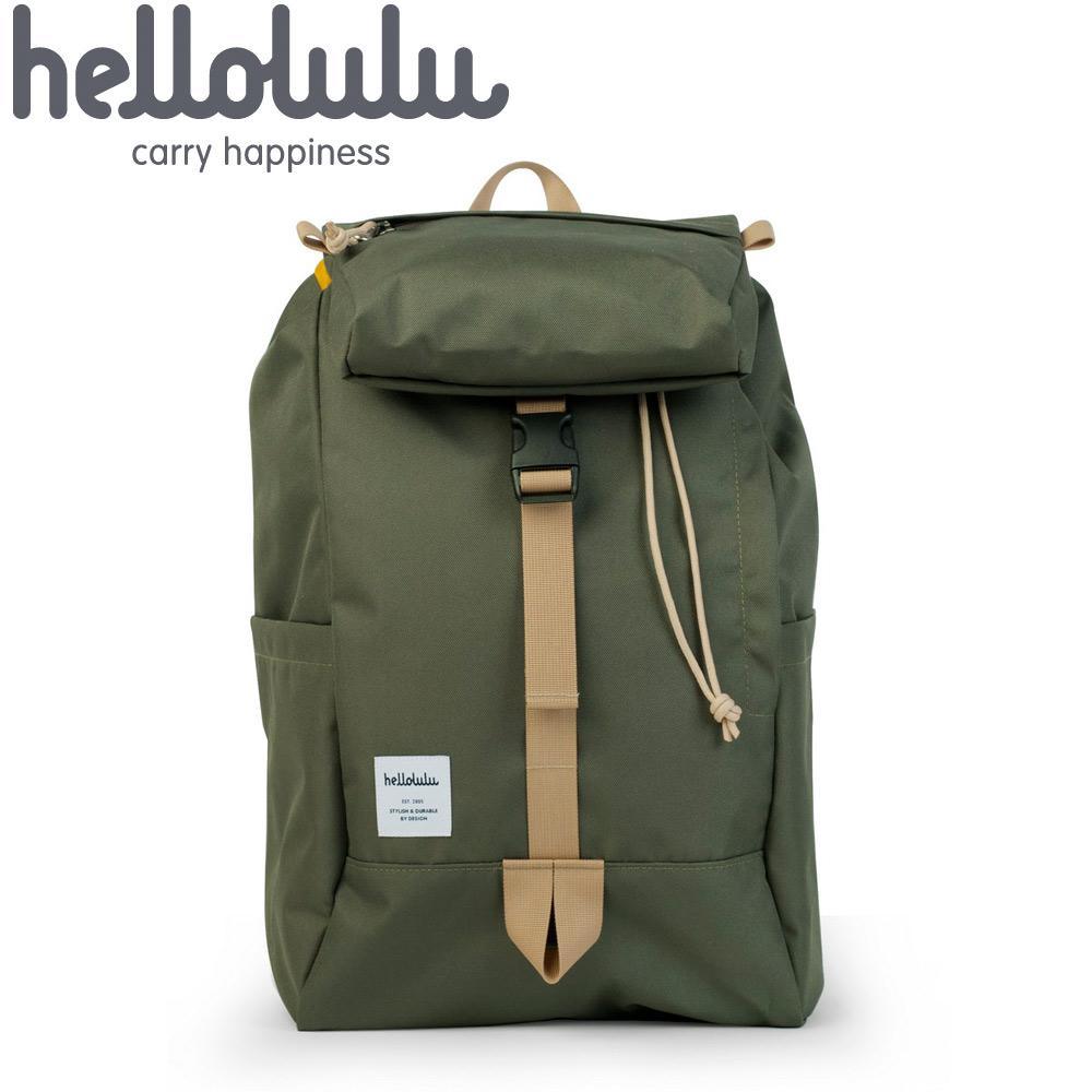 Hellolulu Sutton多用途後背包-橄欖綠