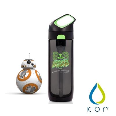 美國KOR water Nava Sport夜光星戰瓶650ml(BB8/黑綠色)