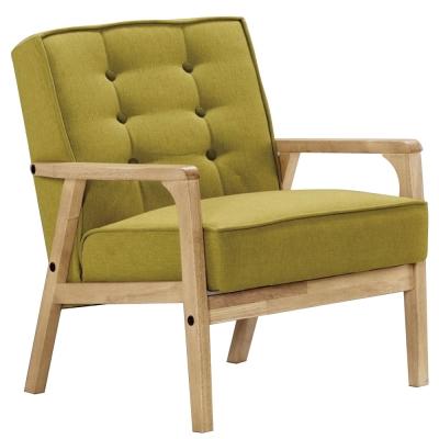 沙發 單人座 波里斯 實木布面沙發 品家居