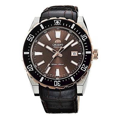ORIENT 卓越不凡自動上鍊機械運動手錶(FAC09002T0)-棕/46mm