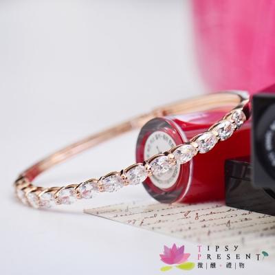 微醺禮物-鋯石-鍍K金-13顆閃亮鋯石-手環