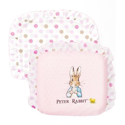 奇哥 花園比得兔乳膠圓型枕-粉紅 (附枕套)