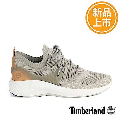 Timberland 男款FlyRoam Go灰褐色皮革飛型鞋