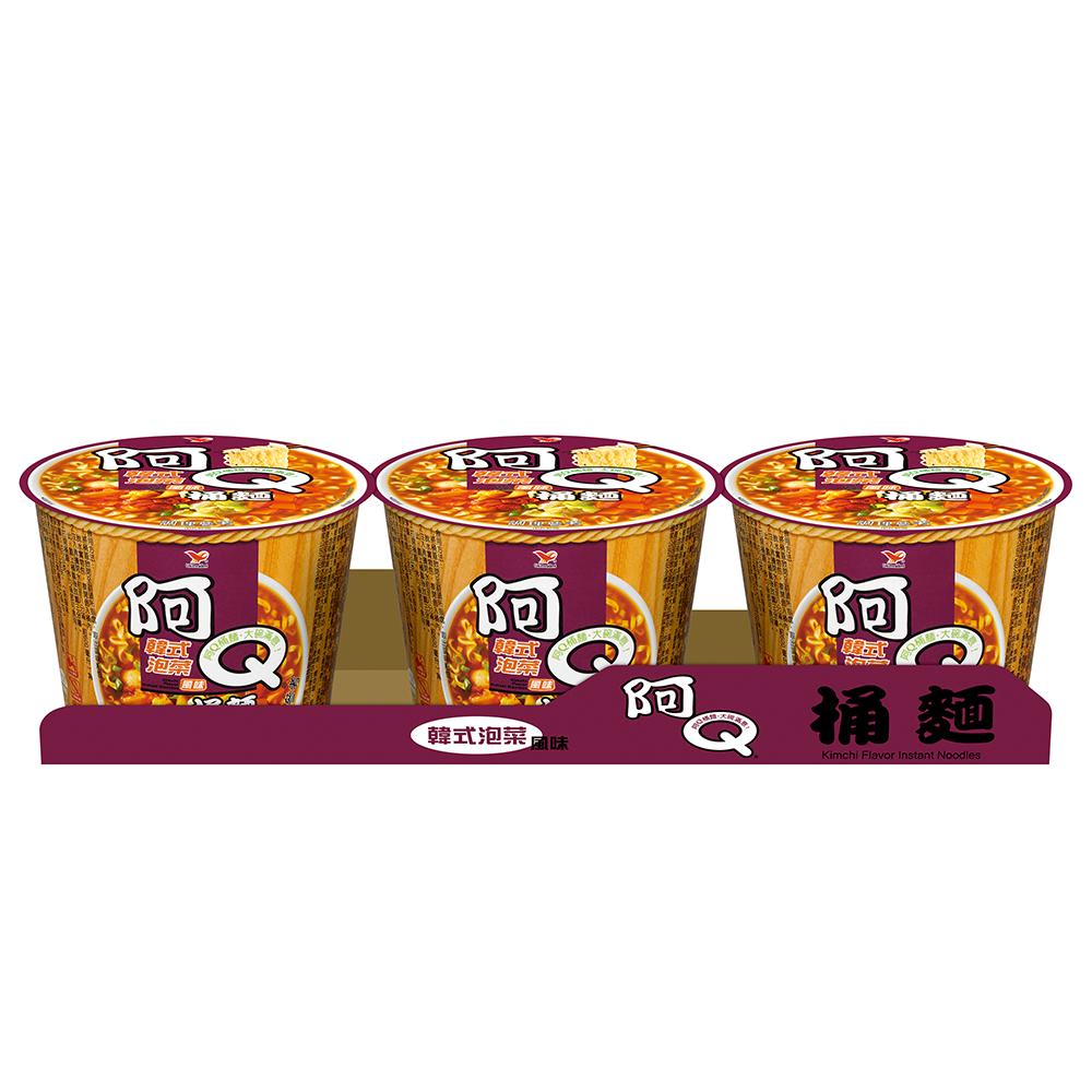 阿Q桶麵 韓式泡菜風味桶(102gx3入)