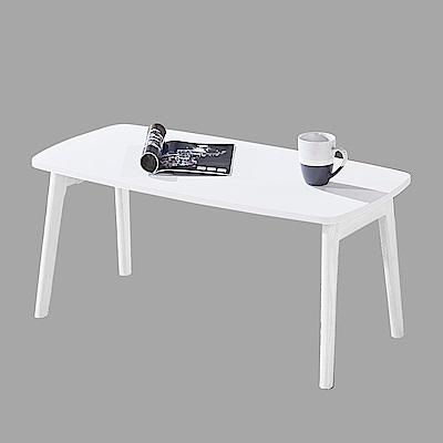 AT HOME-北歐設計3.3尺白色大茶几(100*50*44cm)劍橋
