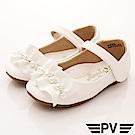 PV日系私藏 緞帶珍珠公主鞋款 8658白(中小童段)
