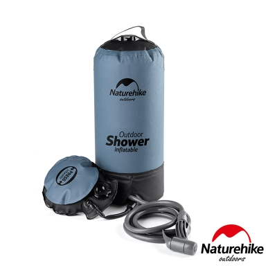 Naturehike 輕巧便攜戶外淋浴器 沖水器 沐浴袋 灰黑-急