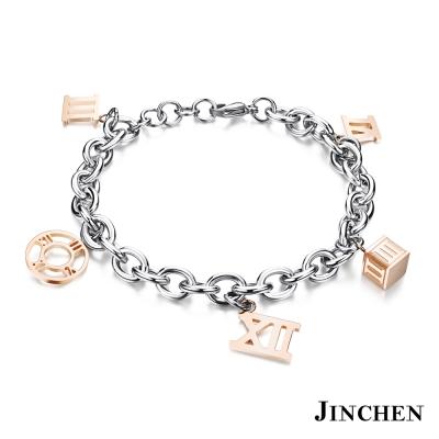 JINCHEN 白鋼羅馬手鍊