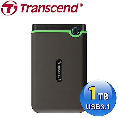 創見 StoreJet 25 M3S 1TB USB3.1 2.5吋行動硬碟-(鐵灰)