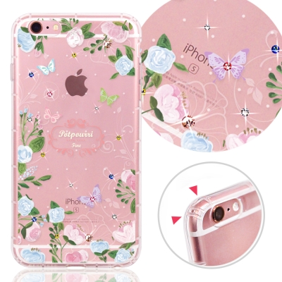 YOURS APPLE IPhone 6s Plus 奧地利水晶彩繪防摔氣墊手機...