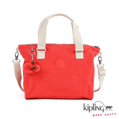 Kipling-手提包-珊瑚玫瑰粉素面
