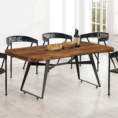 AS-街頭風5尺休閒餐桌-160x90x76cm