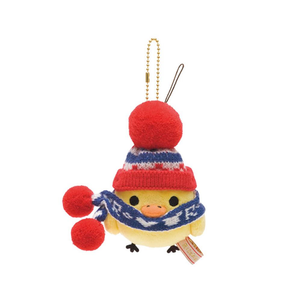 拉拉熊紅粉愛心系列圍巾毛絨公仔吊飾。小雞