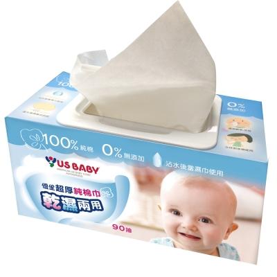 優生超厚乾濕兩用純棉巾90抽1包