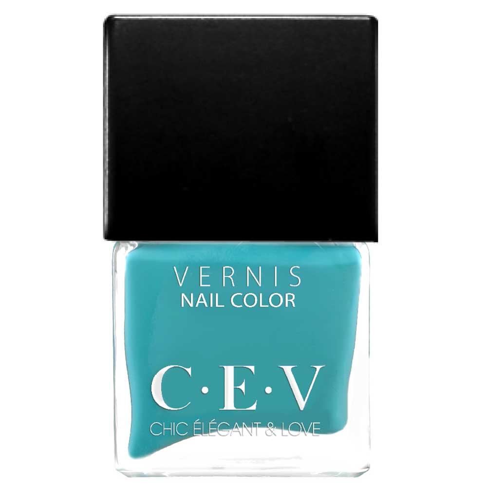 CEV輕奢指甲油 SC606 藍色夏威夷 15mL黑蓋