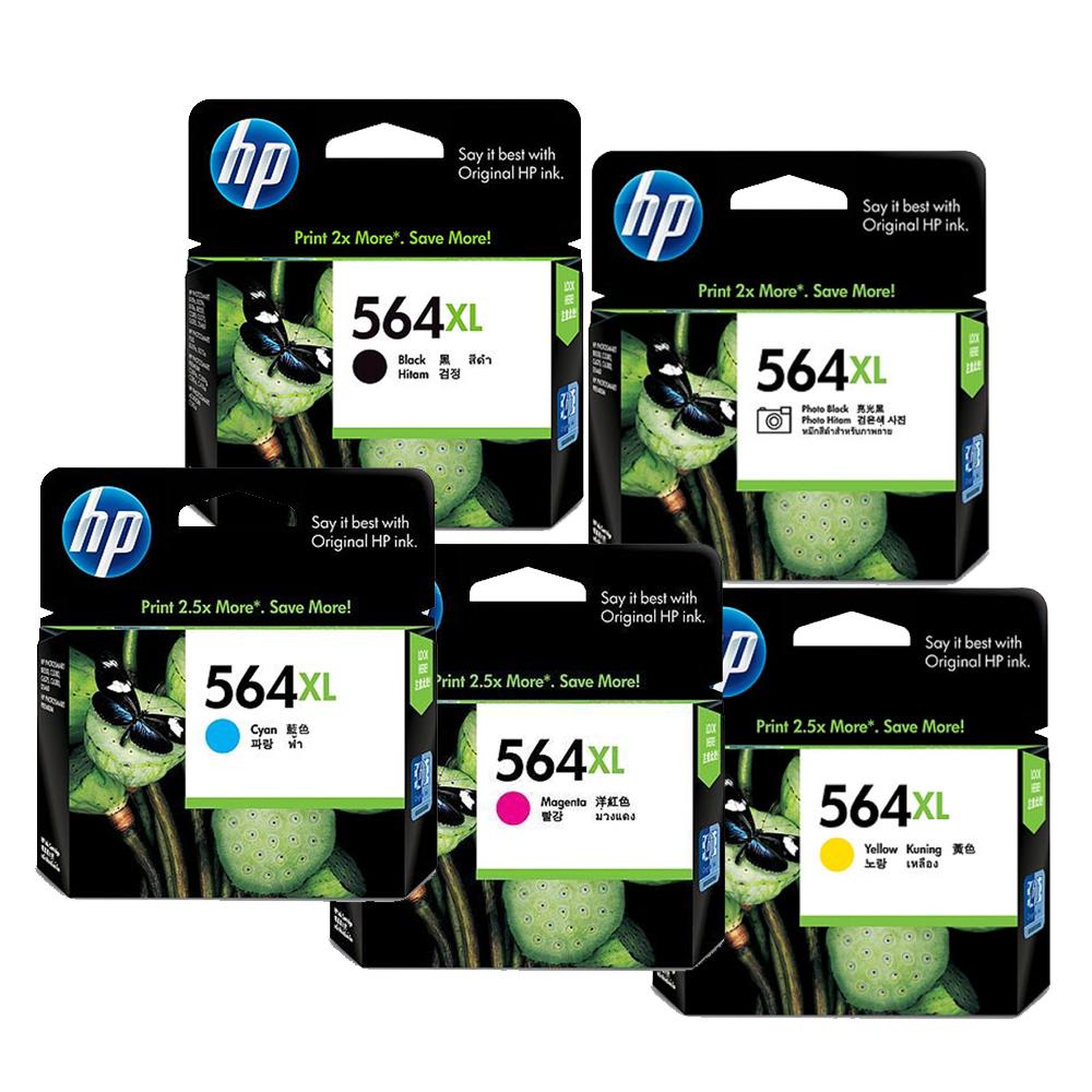 HP 564XL 原廠墨匣超值包 (1黑/1相片黑/3彩)