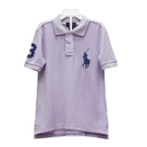 Ralph Lauren 男童數字3經典大馬短袖POLO衫-紫色(5歲)