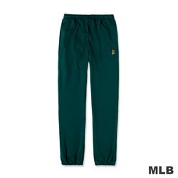 MLB-奧克蘭運動家隊LOGO電繡厚棉長褲-深綠色(男)