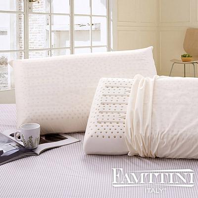 Famttini大尺寸AA級蜂巢平面天然乳膠枕1入