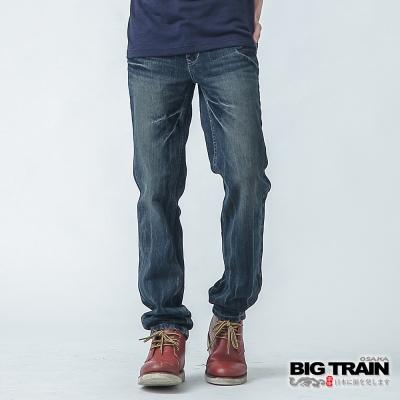 BIG TRAIN 基本款小直筒-男-深藍
