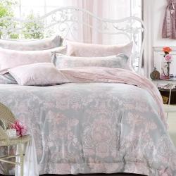 Ania Casa 浪漫狄安娜 涼感天絲 採用3M吸溼排汗專利 加大鋪棉兩用被床包組